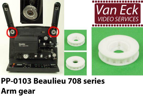 Beaulieu 708 EL tandriemschijf in spoelarm