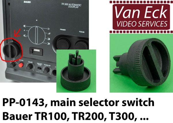 Bauer TR100, TR200, TR200 - hoofd bedieningsknop