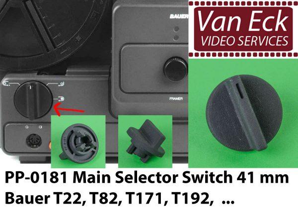 Bauer T22, T82, T171, T192, ... - bedieningsschakelaar 41mm