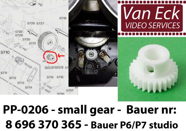 Bauer P6 / P7 studio klein tandwiel - Bauer nr: 8 696 370 365