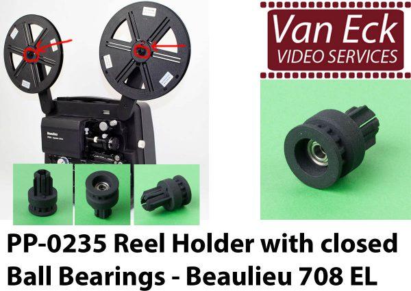 Beaulieu 708 EL spoelhouder - met gesloten kogellagers