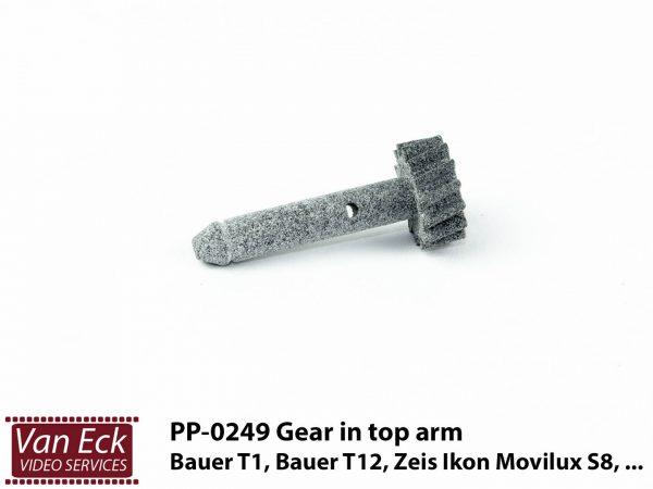 Bauer T1, T12, Zeiss Ikon Movilux S8, ... - tandwiel in bovenste spoelarm (PP-0249)