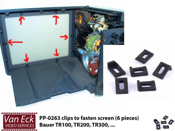 Bauer TR100, TR200, TR300 - clips om scherm vast te klemmen (6 stuks)