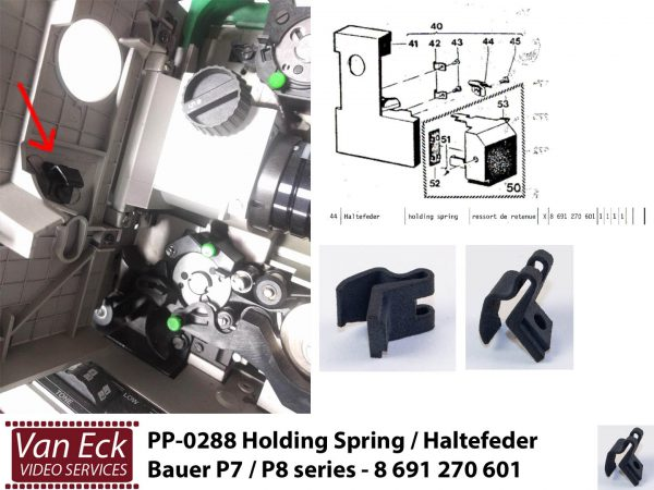 Bauer P7 / P8 series - Holding spring / haltefeder / ressort de retenue 8 691 270 601
