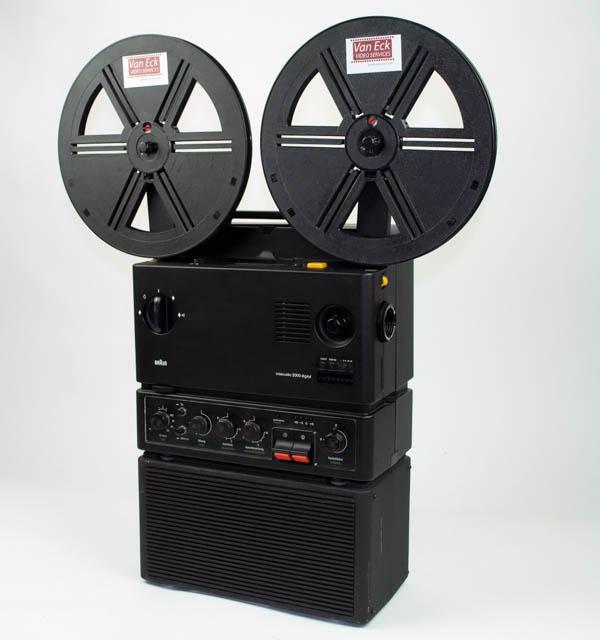 Braun Visacustic 2000 Digital Stereo (Super8 films - met geluid - variabele snelheidsregeling)