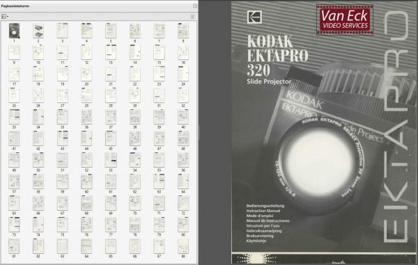 Kodak Ektapro 320 Gebruikshandleiding Deutsch English Francais Espanol Italiano Nederlands Suomi Norge