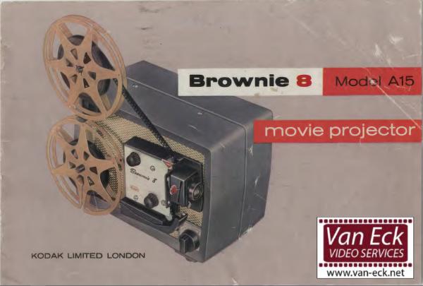 Kodak Brownie 8 Model A15 Gebruikshandleiding, Talen: Engels