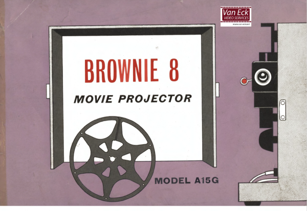 Kodak Brownie 8 model A15G Gebruikshandleiding, Talen: Engels