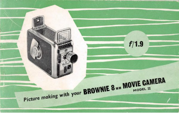 Kodak Brownie 8mm Movie Camera Model II Gebruikshandleiding, Talen: Engels