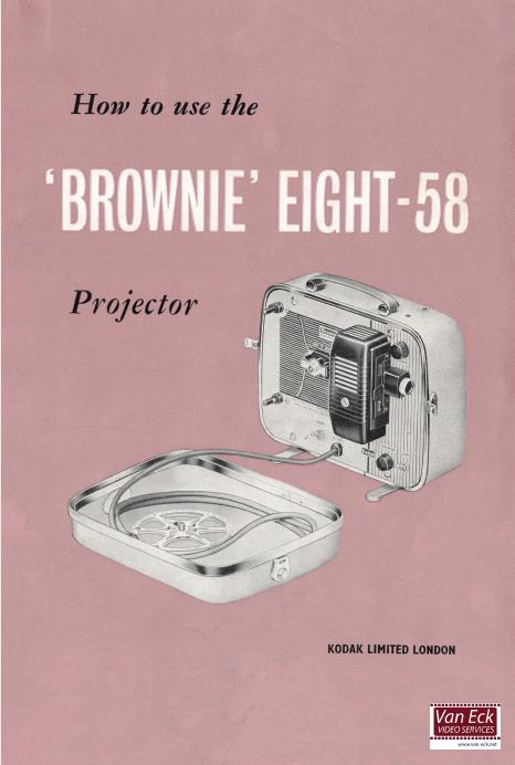 Kodak Brownie Eight-58 Gebruikshandleiding, Talen: Engels