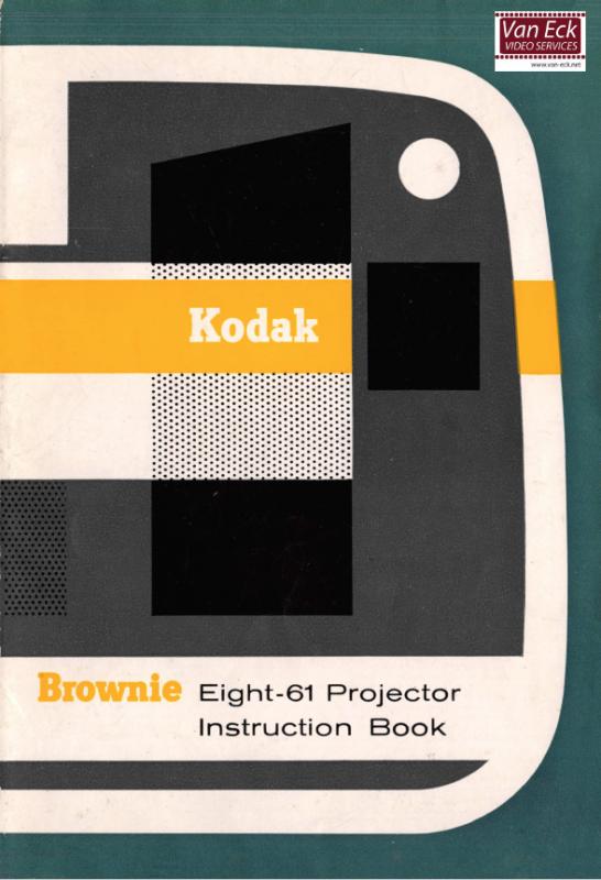 Kodak Brownie Eight-61 Gebruikshandleiding, Talen: Engels