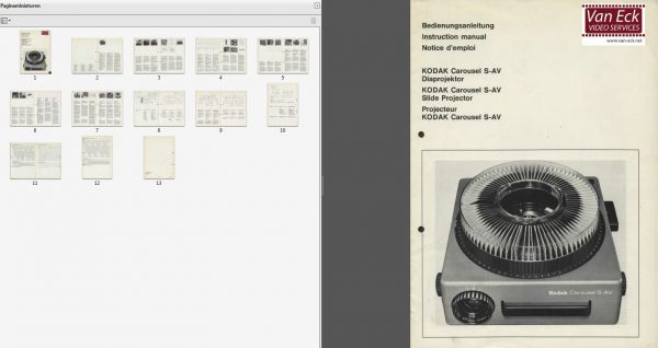Kodak Carousel S AV Gebruikshandleiding Deutsch English Francais