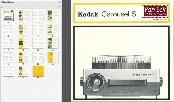 Kodak Carousel S reparatie handleiding English Nederlands Deutsch Français Italiano Español Dansk Svenska Suomi