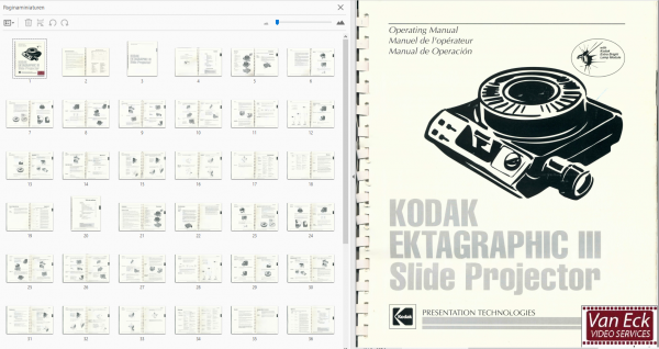 Kodak Ektagraphic 3 Gebruikshandleiding English Francais Espanol