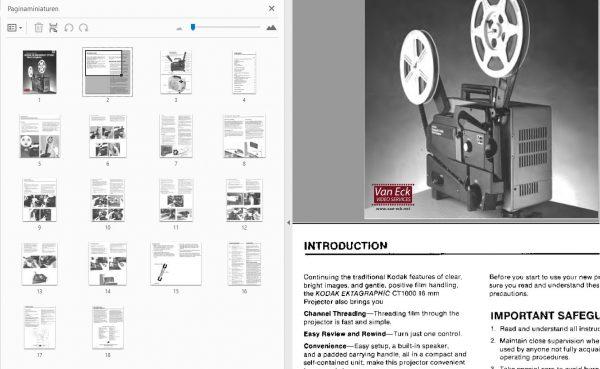 Kodak Ektagraphic CT1000 Gebruikshandleiding, Talen: Engels