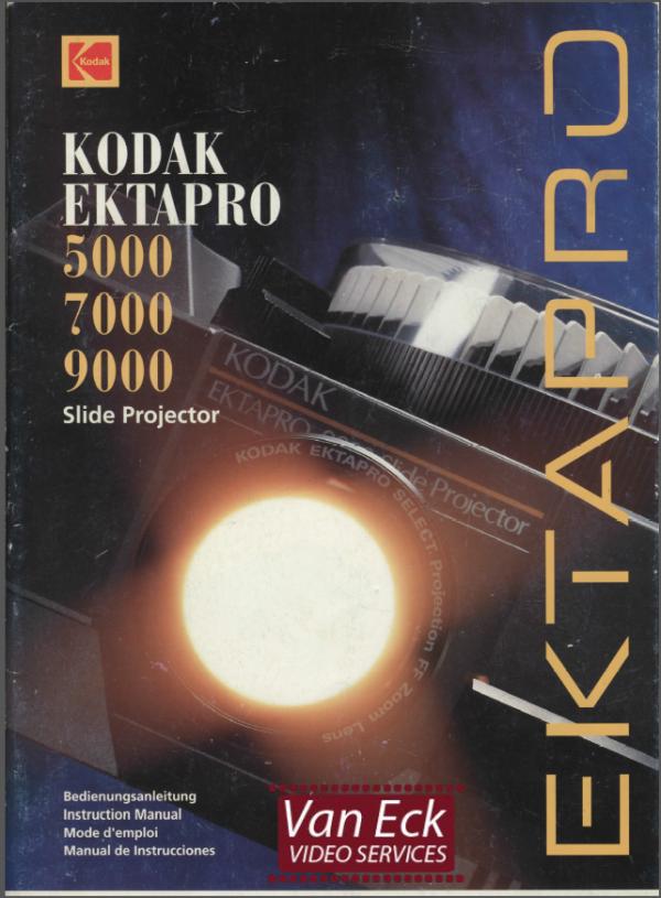 Kodak Ektapro 5000 7000 9000 Gebruikshandleiding Deutsch English Francais Espanol