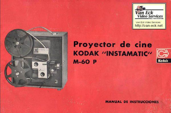 Kodak Instamatic M 60P Gebruikshandleiding Spanish