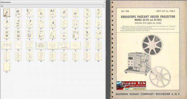 Kodak Kodascope AV-145 AV-165-S reparatie- en onderdelen handleiding English