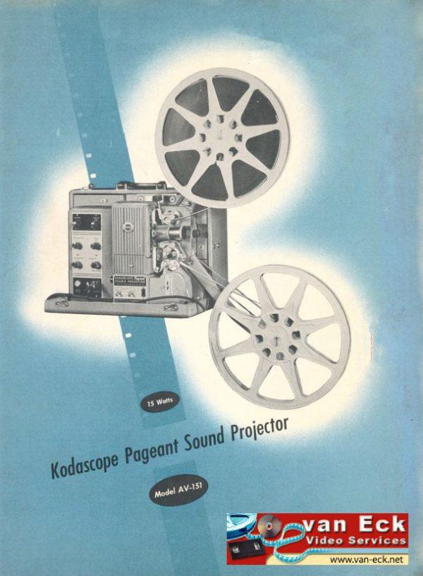 Kodak Kodascope Pageant Sound Projector AV-151 Gebruikshandleiding Engels (English)