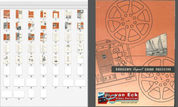 Kodak Kodascope Pageant sound projector model 1 Gebruikshandleiding Engels (English)