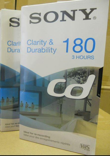VHS-tape Sony 180 minuten (Clarity & Durability)