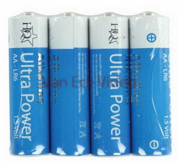 Batterij Alkaline 1.5V AA (4 stuks)