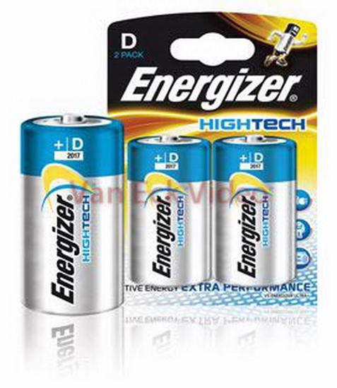 Batterij alkaline D/LR20 1.5V HighTech 2-blister
