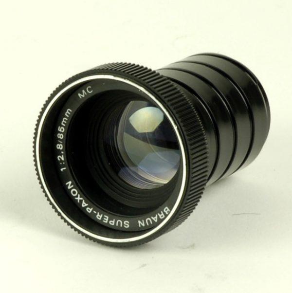 Objectief/lens - Braun Super-Paxon 1:2,8 / 85mm MC Multi-Coated