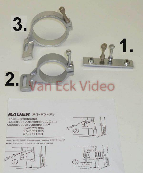 2. Bauer P6-P7-P8 Holder for Anamorphotic Lens (anamorphothalter) - lens holder 38mm