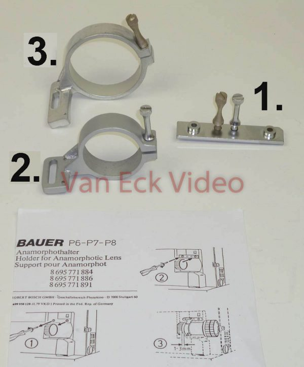 1. Bauer P6-P7-P8 Holder for Anamorphotic Lens (anamorphothalter) - attachement plate