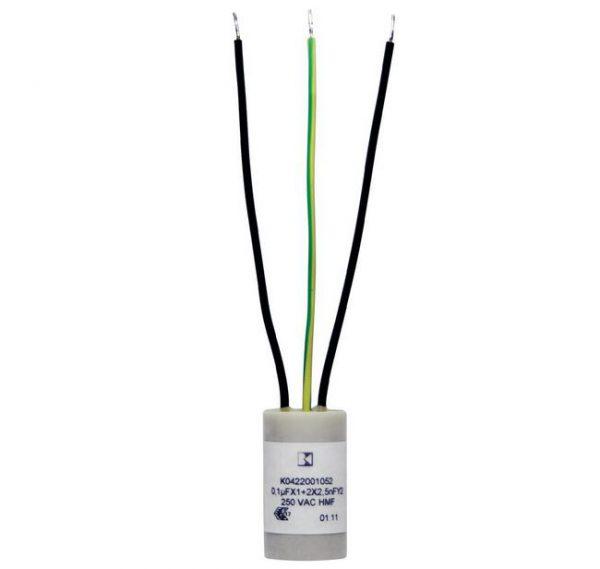 Ontstoringscondensator XY Radiaal bedraad 0.1 µF 250V/AC - K042201052