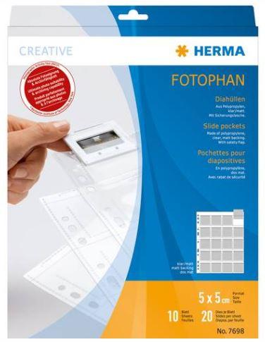 Herma Diahoesjes 5x5 10 Vellen helder/mat No. 7698