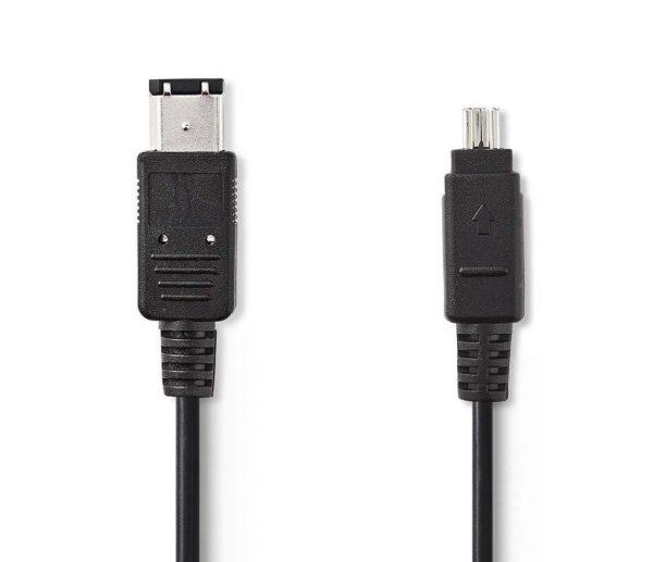 FireWire-Kabel | 4-Pins Male - 6-Pins Male | 2,0 m | Zwart