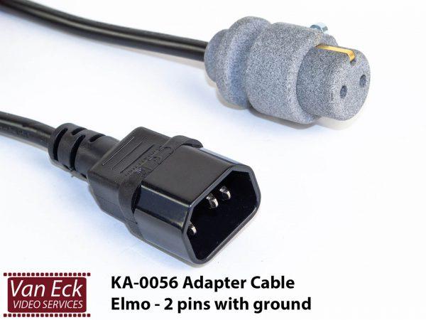 Adapter power cable Elmo - twee pins met randwaarde (KA-0056-AD)