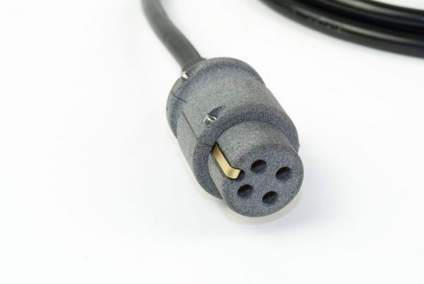 Netsnoer Elmo - vier pins met randwaarde- Europese stekker, 2m kabel (KA-0063)