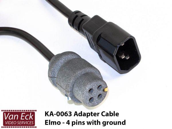 Adapter power cable Elmo - 4 pins met randwaarde (KA-0063-AD)