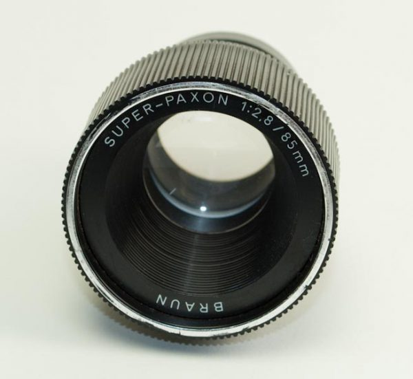 Objectief/lens - Braun Super-Paxon 1:2,8 / 85mm