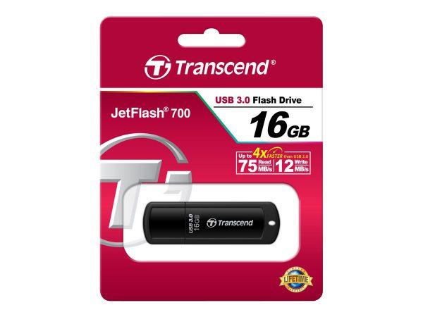 USB stick 16 GB - TRANSCEND JetFlash 700 16GB USB3.0