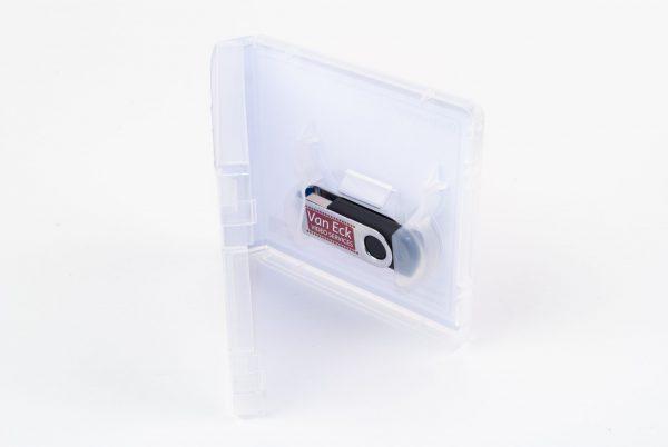 Clappac USB box met sleeve super clear