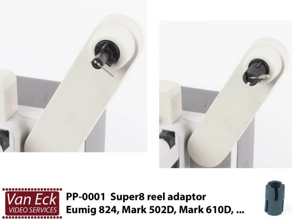 Super8 spoel adapter Eumig 824, Eumig mark 610D, etc.