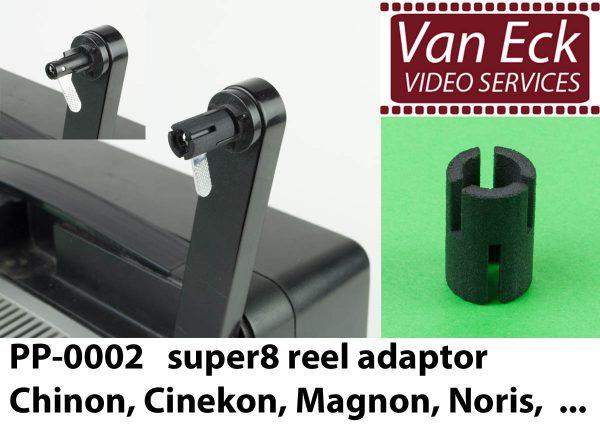 Super8 spoel adaptor voor Chinon, Cinekon, Magnon, Noris, ...