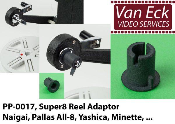 Super8 spoel adapter Naigai, Pallas All-8, Yashica, Minette