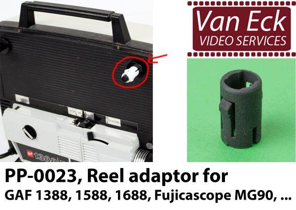 Super8 spoel adapter GAF 1388Z, 1588Z, 1688Z, Fujicascope MG90, ...
