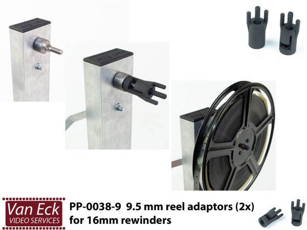 9,5mm adapters (2 stuks) voor 16mm omspoelers