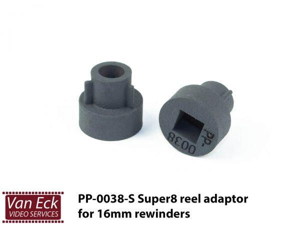 Super8 adapters (2 stuks) voor 16mm omspoelers