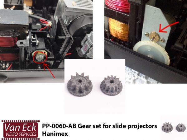Tandwielen set voor dia projectoren - Hanimex (PP-0060-AB)