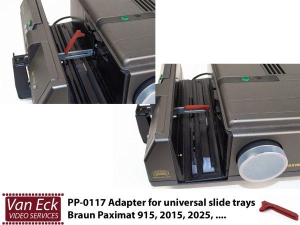 Braun Paximat - rode Adaptor voor universal diamagazijnen