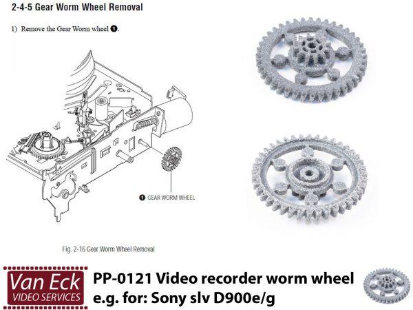 Video Recorder Gear Worm Wheel - Sony slv D900e/g - PP-0121