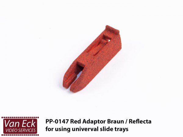 Reflecta / Braun rode Adaptor voor universele diamagazijnen