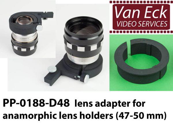Lens adapter voor anamorfische lens houders (47-50mm)